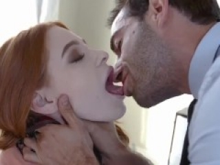 submissived - dominating busty submissive redhead