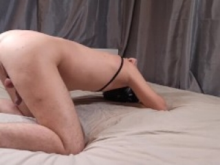 Spanked and Strapon Fucked Tied Husband
