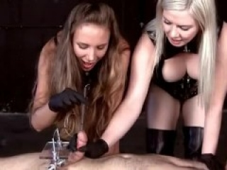 cbt mistresses in latex gloves
