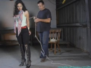 Bound in black jeans and boots (part 1)
