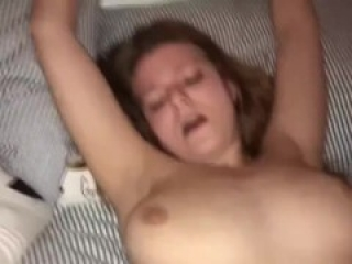 Sexy Big Boobs Teen cumming hard and let me cum on her