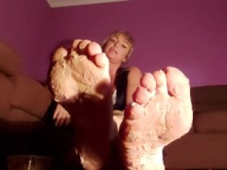 Complete worship of my feet. Dominating my faithful slave