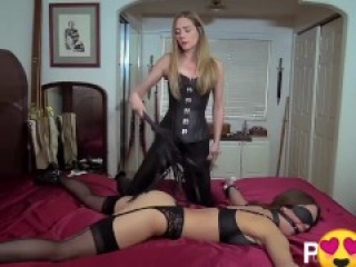 Lesbian arranged for girlfriend passionate domination in various poses
