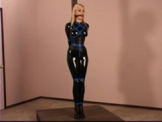 Moan bound in black catsuit and drool !