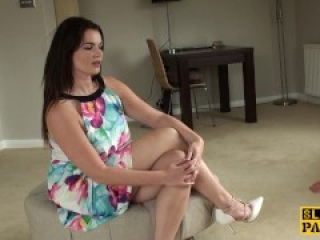 Spanked brit sub Tasha Holtz pounded roughly