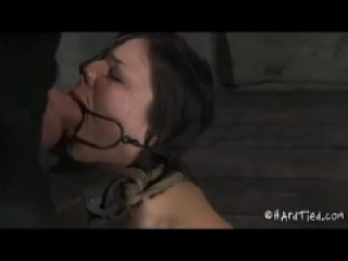 Tied nose hooked and cumshot