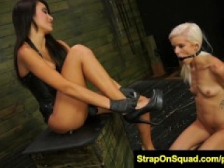 FetishNetwork Halle Von strapon bdsm sex with Marina Angel