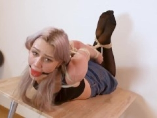 RF Russian Cuties Astrid Hogtied And Tries Out New Gags