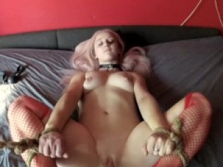 Tied and controlled by vibrator inside