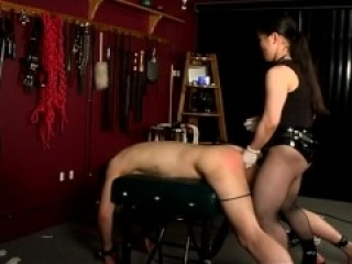 Asian Mistress Makes Slave Beg To Be Pegged Hard