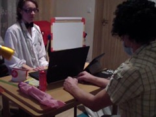 Dr. Kabayeva exams and fucks her submissive patient again - rough exam
