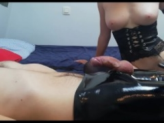 My Girlfriend Dominates Me, Ruins My Ogasm And Makes Me Eat My Cum