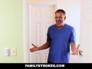 FamilyStrokes - Teen Tied Up and Fucked By Step-Daddy