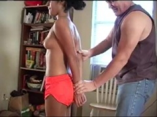 hooters girl Drea Morgan tied up and hogtied