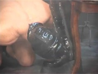 German Latex Mask Goddess Fucks Slave Hard