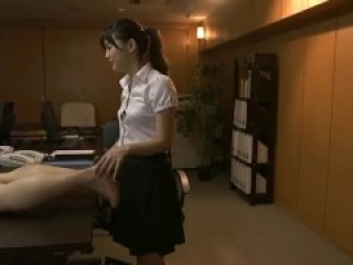 Asian girl worships and licks feet of a guy