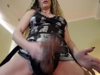 Strapon slut trained how to suck (prerecorded cam session)