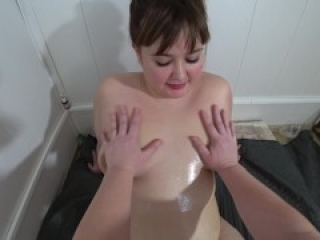 Deep fisting in hairy pussy. Lesbian with fat ass doggystyle POV