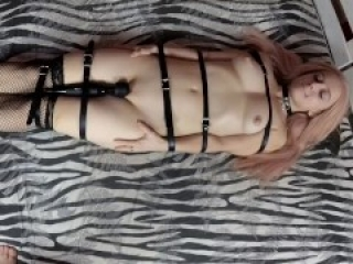 Tied and vibed to orgasm