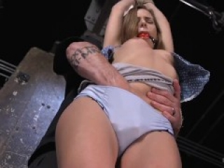 Hot Blonde Tormented in Bondage (ALL KINK'S VIDEOS FOR FREE ON THIS SITE -- KINKFREE,HEROKUAPP,COM)